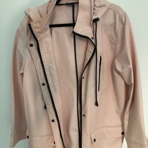 Women's Sparkle and Fade light Pink Raincoat